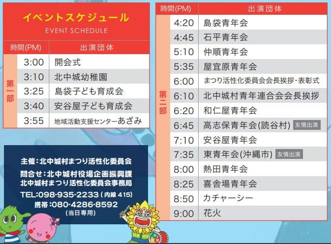 青年エイサー祭り2019プログラム